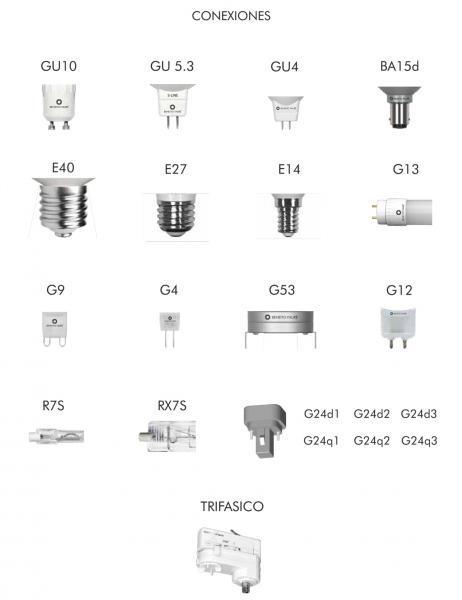 Tipos de casquillos y portal mparas - Tipos de casquillos ...